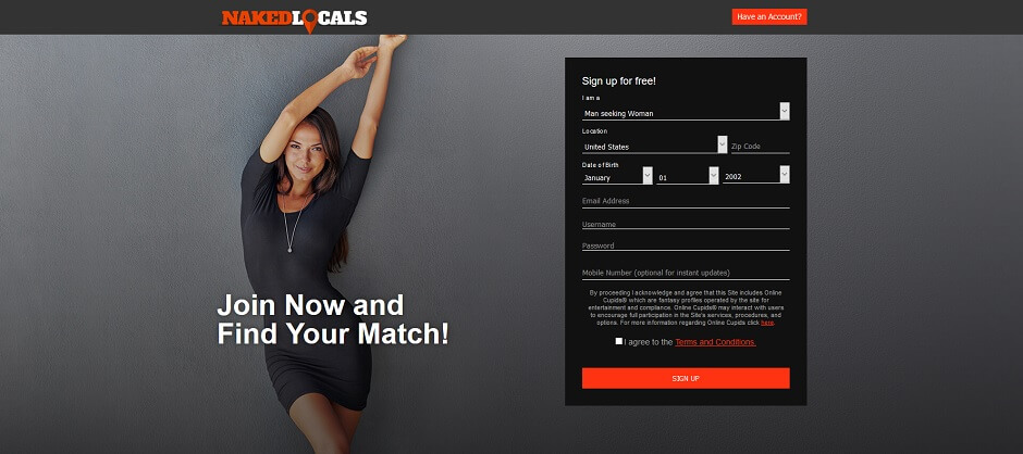 Naked Locals - Find a Local Hookup