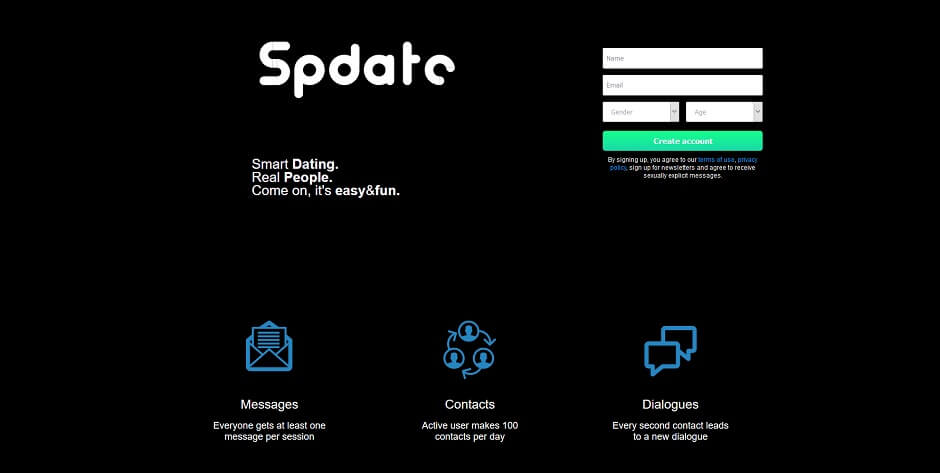 Spdate - Smart Dating. Real People. Come on, it's easy&fun.